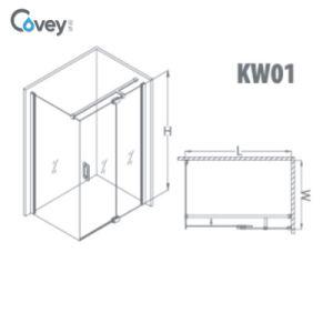 Clean Design Frameless Shower Enclosure / Hinged Bathroom Shower Cabin (KW01) pictures & photos