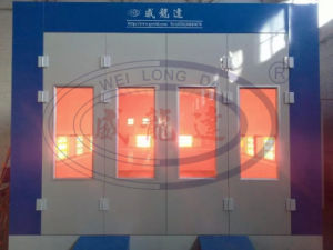 Car Spray Painting Booth with Infrared Lamp Heating System Wld-8200 pictures & photos