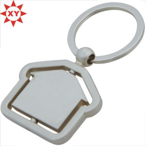 Custom Room Shape Nickel Keychain Factory pictures & photos