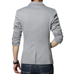 Casual Blazer Men High Quality Blaser Fashion Cotton Suit Blazer pictures & photos