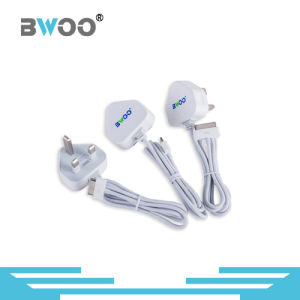 Bwoo 2.1A UK Plug Wall Charger USB Connector with Cable pictures & photos