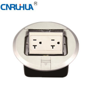Whole Sales Commerical Worldwide Round American 20A Two-Way Floor Socket pictures & photos