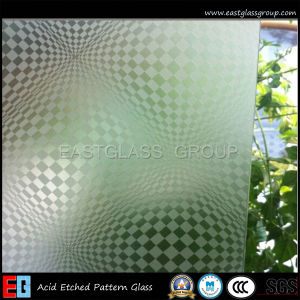 Clear Acid Etched Glass/Frosted Glass/Sandblasted Glass/Colored Frosted Glass/Tinted Acid Etched Glass/Frost Glass/Sandblasting Glass (AD41) pictures & photos
