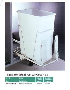 Kitchen Furniture Pull-out PVC Dust Bin pictures & photos
