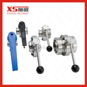 Stainless Steel Sanitary Pneumatic Butterfly Valves with Sensor Position (Air to Air) pictures & photos