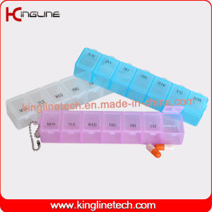Latest Design Plastic 7-Cases Pill Box (KL-9078) pictures & photos