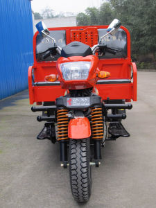 Quality Two Passenger Seats Three Wheeled Cargo Motorcycle for Heavy Carrying pictures & photos