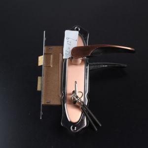 129 Aluminum Handle Antique Copper Door Handle Lock