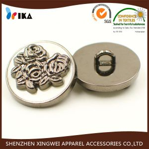 Custom Embossed Logo Alloy Shank Button pictures & photos
