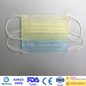 Disposable FDA 510k Cough Breathing Face Masks pictures & photos