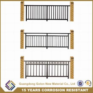 Powder Coated Simple Cheap Wrought Iron Grill Fence Design pictures & photos