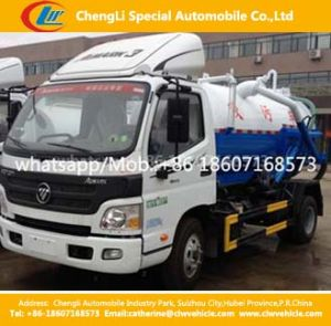 Foton 4000liters Vacuum Sewage Suction Tanker Truck pictures & photos