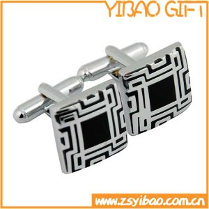 Hot Sell Custom Logo Cooper Cufflink, Plating Silver Jewerlly Cuff Link for Business Shirt (YB-r-016) pictures & photos