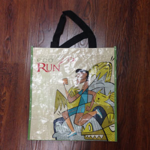 Custom Printed PP Woven Advertising Bag with Hanldle for Promation