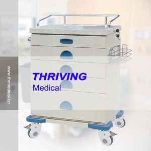 Medical Colored Steel Plate Drawer Trolley (THR-ZY105) pictures & photos