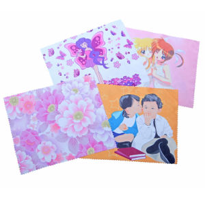 The Queen of Quality Microfiber Portable Lens Cleaning Cloth with Photo Heat-Transfer Printing (XY-00142)