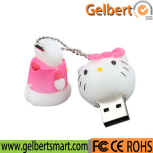 Hello Kitty Shape Custom PVC USB Flash Drive for Gift pictures & photos