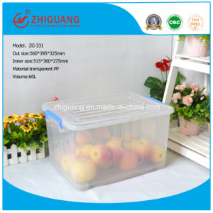 560*395*325 Storage Stackable Plastic Box with Lid for Packaging pictures & photos