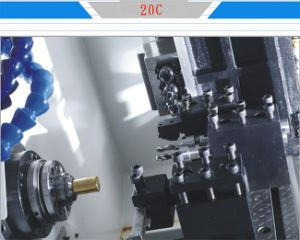 Precision By20c 4-Axis High Speed Gang Tool CNC Lathe Machine pictures & photos