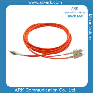 Sc-LC Multimode Duplex Fiber Optic Cable/Patchcord pictures & photos