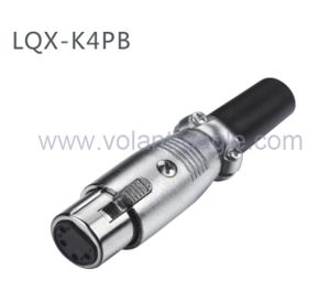 Competitive Audio Connectors 4-Pin Female XLR Connector with RoHS pictures & photos