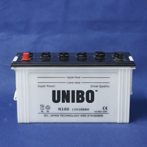 Truck Battery  High Performance JIS Standard Dry Charged N100 12V100ah Car Battery pictures & photos