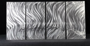 Beautiful Silver Panel Metal Wall Art for Home Decor pictures & photos
