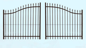 Iron Gate with Sharp End Garden Gate Metal Gate