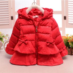 C1289 Winter Baby Girls Hooded Pricess Cotton Padded Jacket pictures & photos