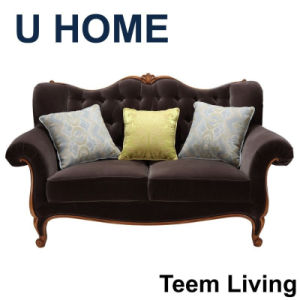 New Collection New Design H522 French Style Lounge Furniture Dubai Style 2 Seater Living Room Sofa pictures & photos