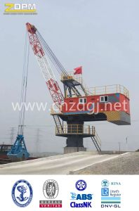 360degree Rotation Single Jib Portal Fixed Crane in Port for Loading pictures & photos