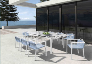 2015 New Design Outdoor Furniture Aluminum Frame Dining Set