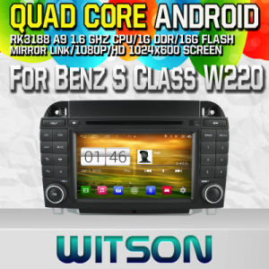 Witson S160 Car DVD GPS Player for Benz S Class W220 with Rk3188 Quad Core HD 1024X600 Screen 16GB Flash 1080P WiFi 3G Front DVR DVB-T Mirror-Link (W2-M220) pictures & photos