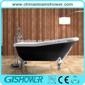 Black Color Acrylic Bathtub with Legs (BL1011TB) pictures & photos
