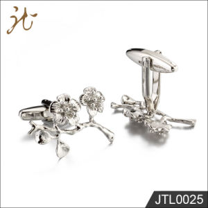 Fashion Nice Quality Brass Cuff Buttons Flower Shape for Sale pictures & photos