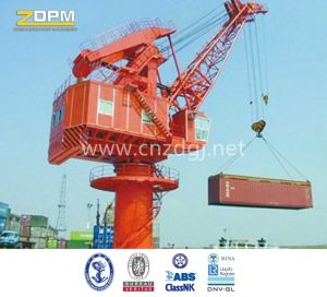 Marine Stick Fixed Boom Floating Deck Crane for Sale pictures & photos