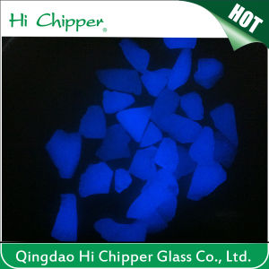 Sky Blue Road Marking Glow Glass Chips pictures & photos
