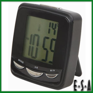2015 Clock with Backlight&Snooze, Mini 9 Language Talking Clock Snooze, Classical Time Alarm Clock Snooze with Temperature G20c112 pictures & photos