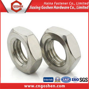 Polishing, Plain Hex Head Thin Nuts, DIN439 pictures & photos