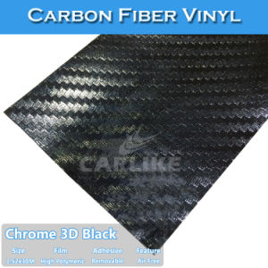 Color 3D Chrome Carbon Fiber Vehicle Wrap