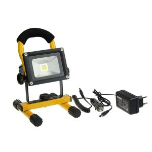 10W LED Rechargeable Floodlight with USB Socket