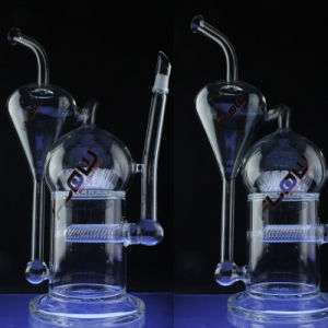 Glass Inline Perc Recycler Water Pipe for Daily Use (ES-GB-029) pictures & photos