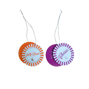 Beautiful Design of Paper Hangtag in Circle with String