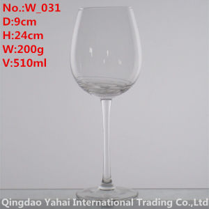 510ml Clear Colored Wine Glass pictures & photos