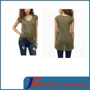 Tee Shirts for Sale Long Tank Women Dress (JS9014) pictures & photos