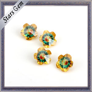 Beautiful Hot Sale Flower Shape Multi-Color Cubic Zirconia pictures & photos