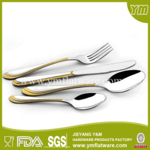 Fashionable Design Stainless Steel Gold Plating Cutlery pictures & photos