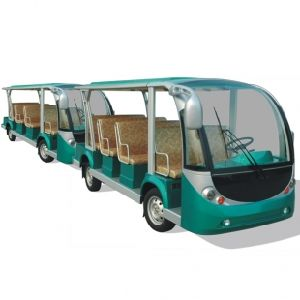 Electric Bus Train, Electric Shuttle Bus with Trailer, 23 Seats, Eg6118tb with Eg6118tb pictures & photos