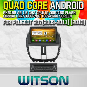 Witson S160 for Peugeot 207 (2013) Car DVD GPS Player with Rk3188 Quad Core HD 1024X600 Screen 16GB Flash 1080P WiFi 3G Front DVR DVB-T Mirror-Link (W2-M207) pictures & photos