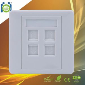 4 Port 86*86mm Network Wall Plate